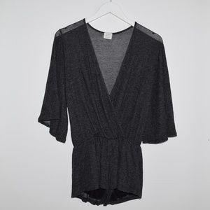 Honey Punch Swim Coverup Romper